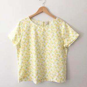 J. Crew Pineapple Top Linen Cotton Size XL
